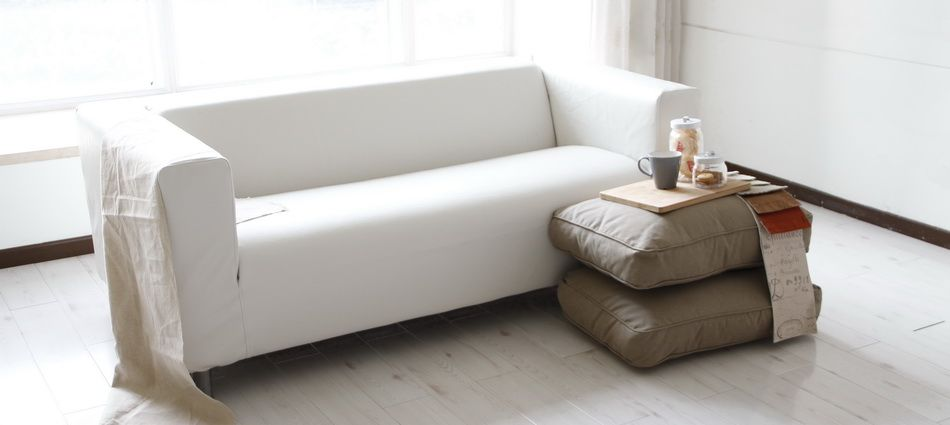 Leather Slipcover For Ikea Klippan Sofa Comfort Works Blog Design Inspirations White Leather Sofas White Leather Couch White Slipcover Sofa