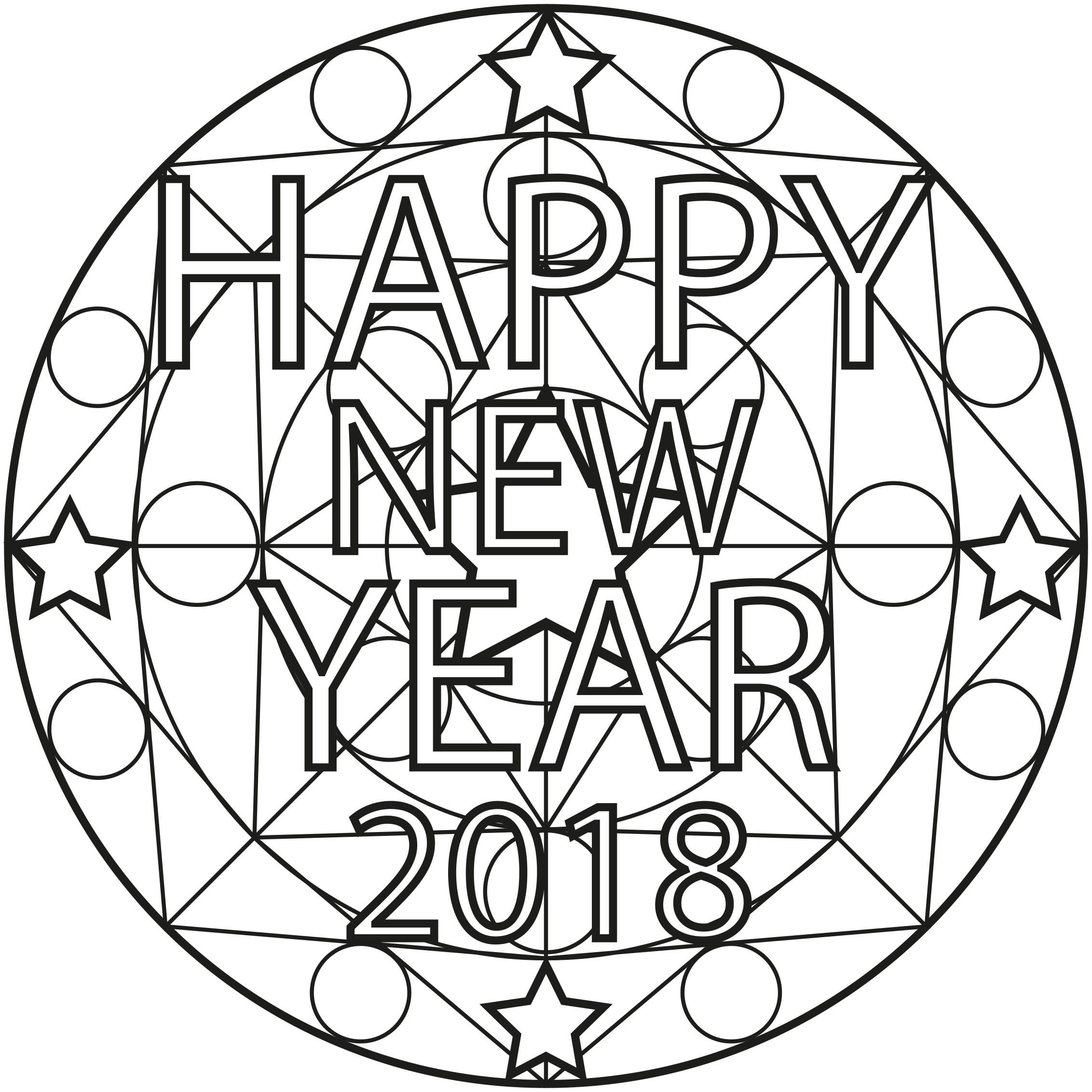 Mandala new year - Mandalas Coloring Pages for Adults ...