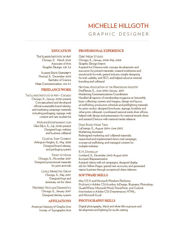 2 Column Resume Template Resume Sample