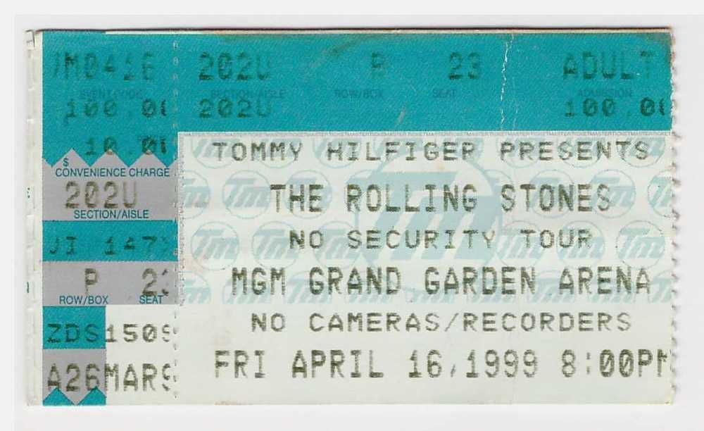 Sugar Ray Tour 2020 Rolling Stones   Sugar Ray  4 16 99  concert ticket stub 1999   No