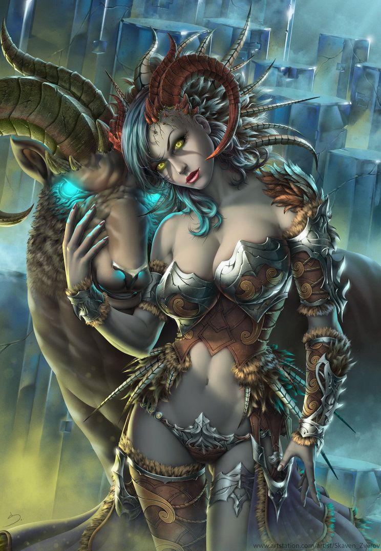 art fantasy Succubus dark