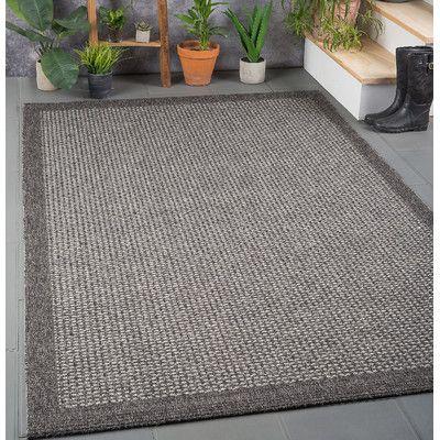 Varick Gallery Sheard Black Indoor/Outdoor Area Rug Rug Size: