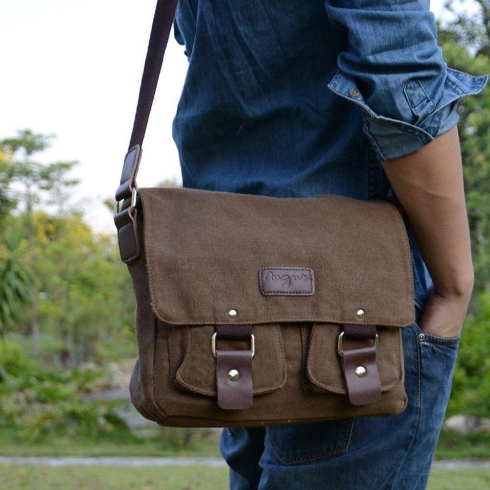 40d204399980 Sechunk Men's Shoulder Bag Canvas Retro Messenger bags for Leisure ...