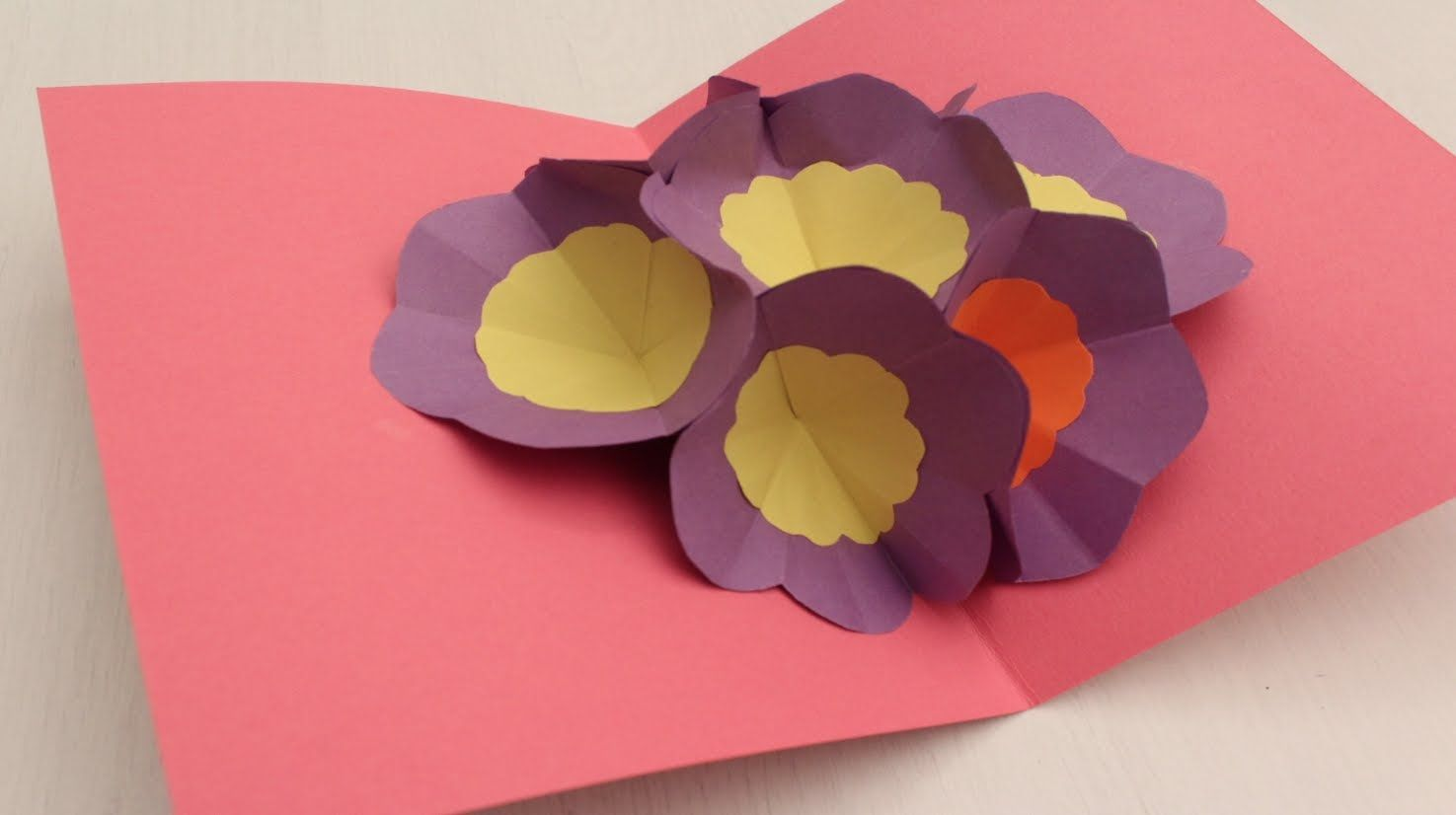 How To Make A 3d Flower Pop Up Greeting Card Arts And Crafts