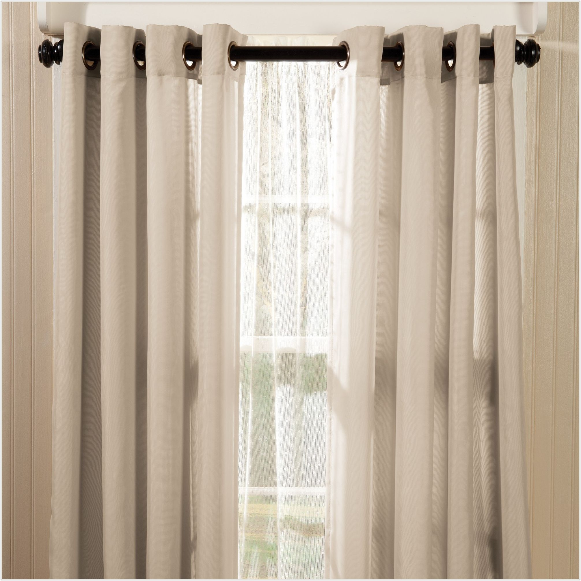 Penneys Sheer Curtains In 2020 Curtains Beige Curtains Grommet