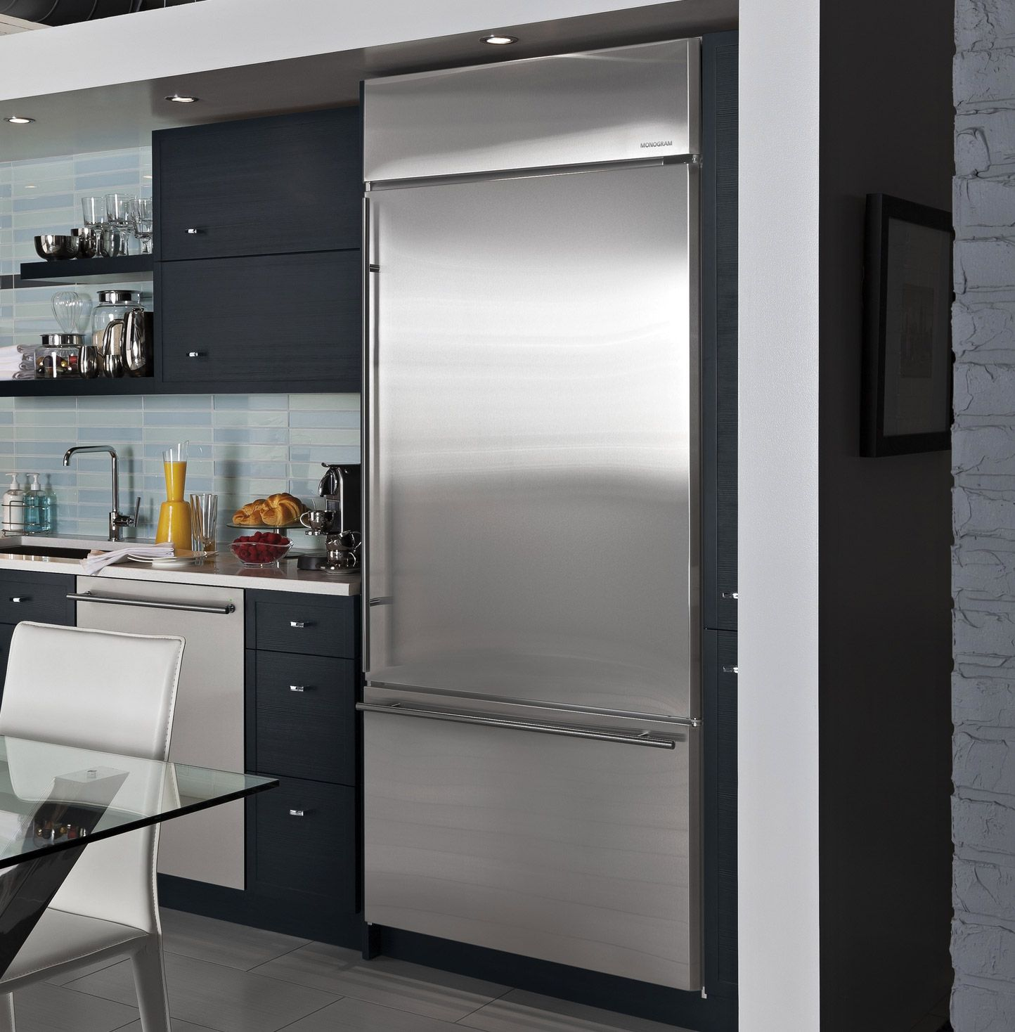 built in and free standing refrigerators monogram kitchens house rh pinterest com