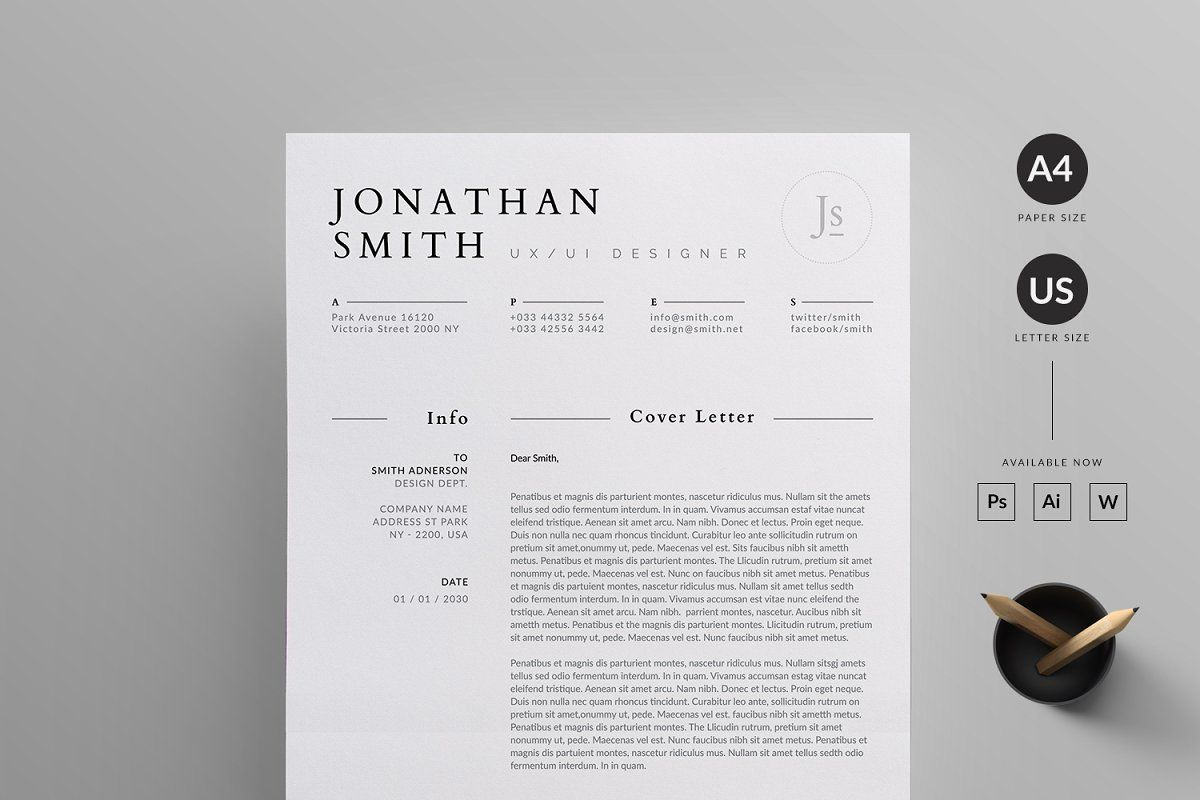 Resume/CV by Reuix Studio on creativemarket Resume