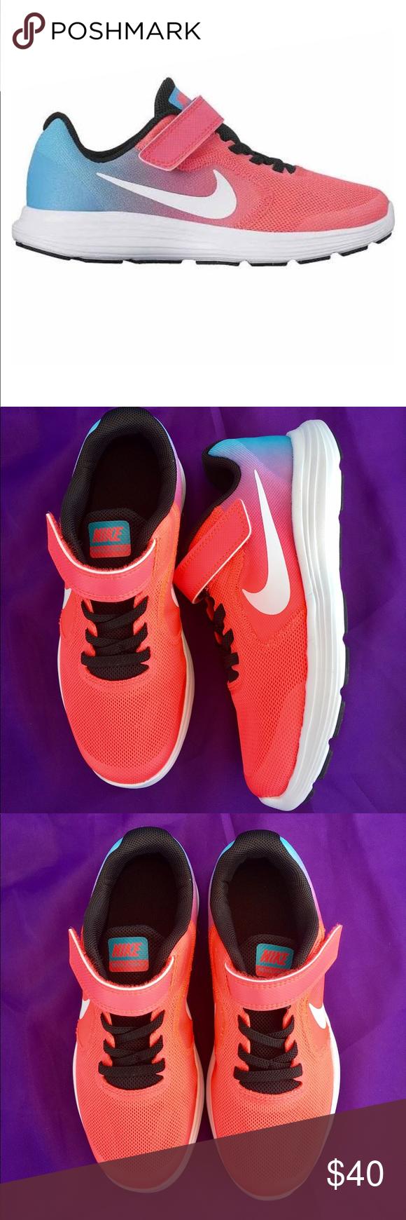 Nike Revolution 3 girls running shoes
