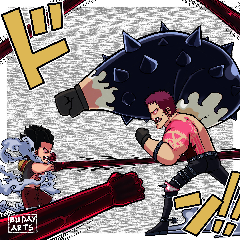 One Piece Luffy vs Katakuri Fanart