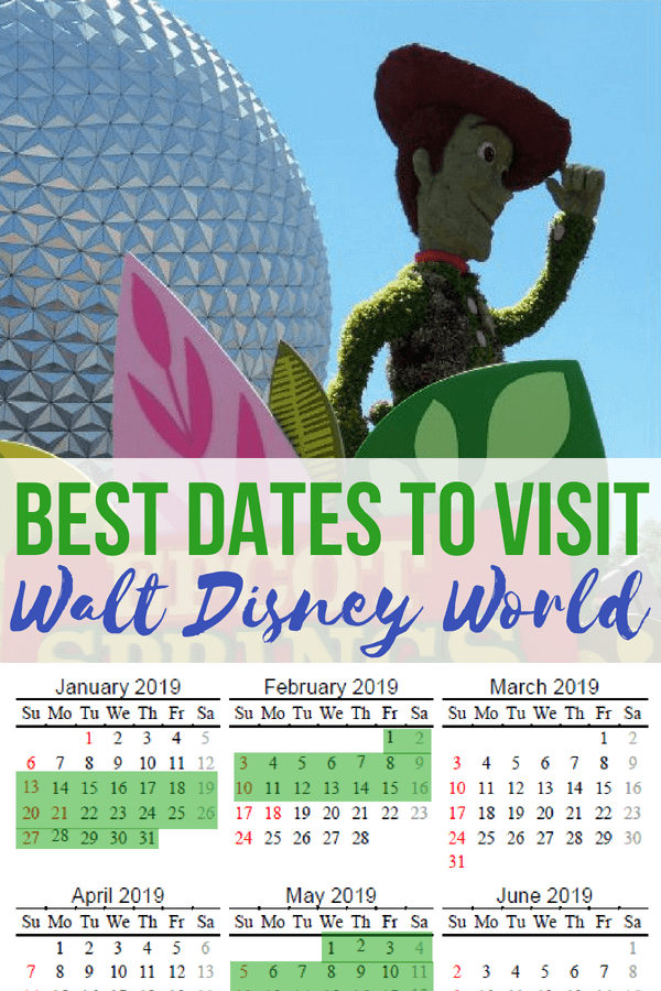 The Best Time To Go To Disney World In 2020 2021 Free Printable Calendar Disney World Vacation Planning Walt Disney World Vacations Disney World Vacation