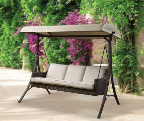 I Found A Augusta All Weather Wicker 3 Person Patio Swing At Big