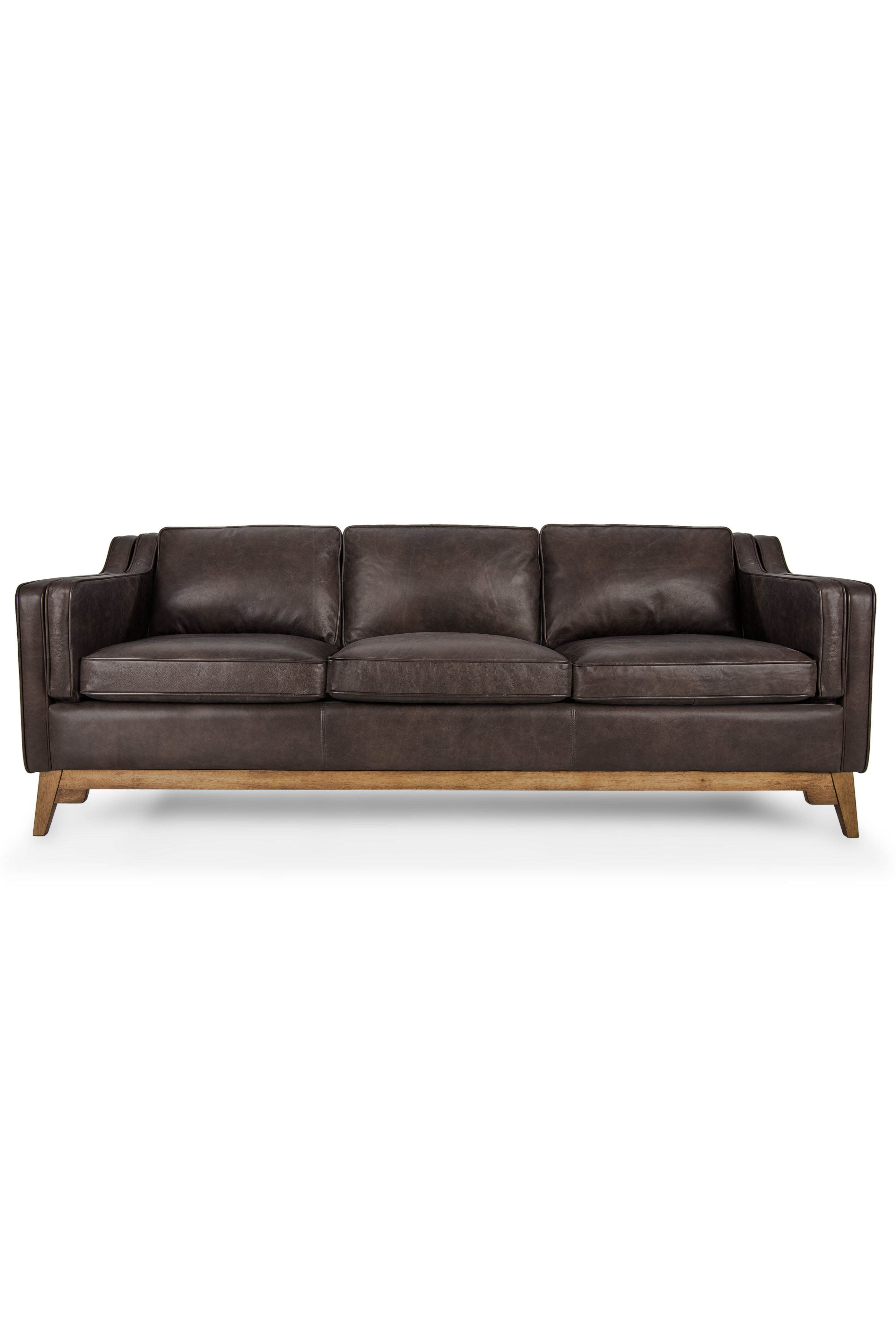 modern brown leather sofa corner uk next upholstered article worthington