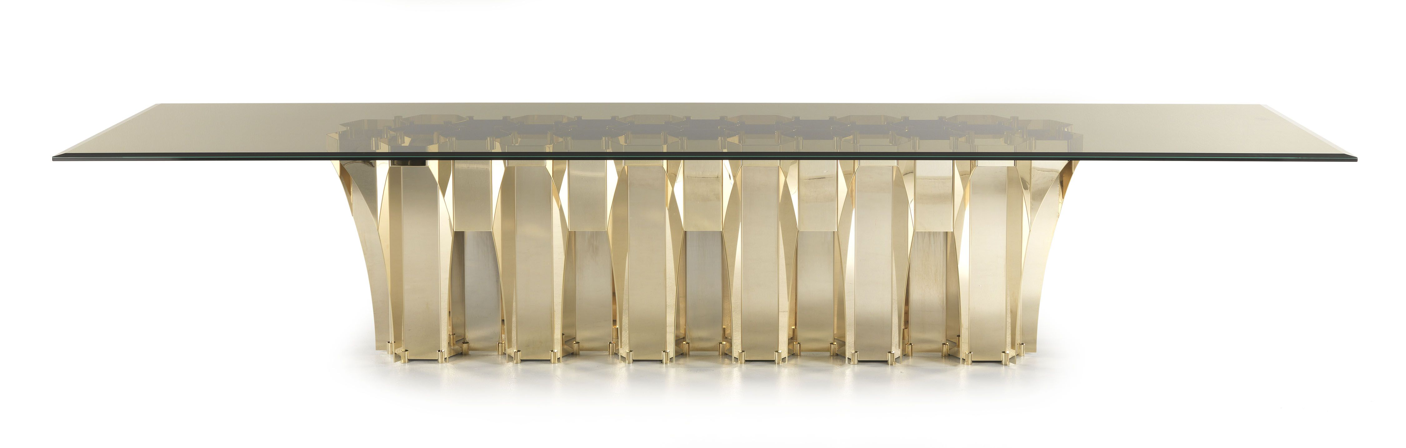 Soho Dining Table | Roberto Cavalli Home #RobertoCavalliHome #HomeInteriors  #Table #Gold