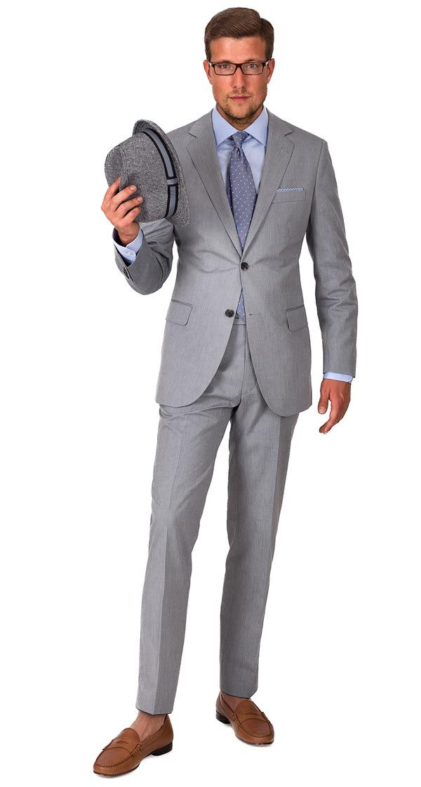 289a7ccd94a9 LIGHT GREY #COTTON #SUIT   Ready-to-wear   100% Cotton   Spring & Summer  (8.5 oz). Woven in Italy by Angelico.   Free shipping & returns.  #OliverWicks
