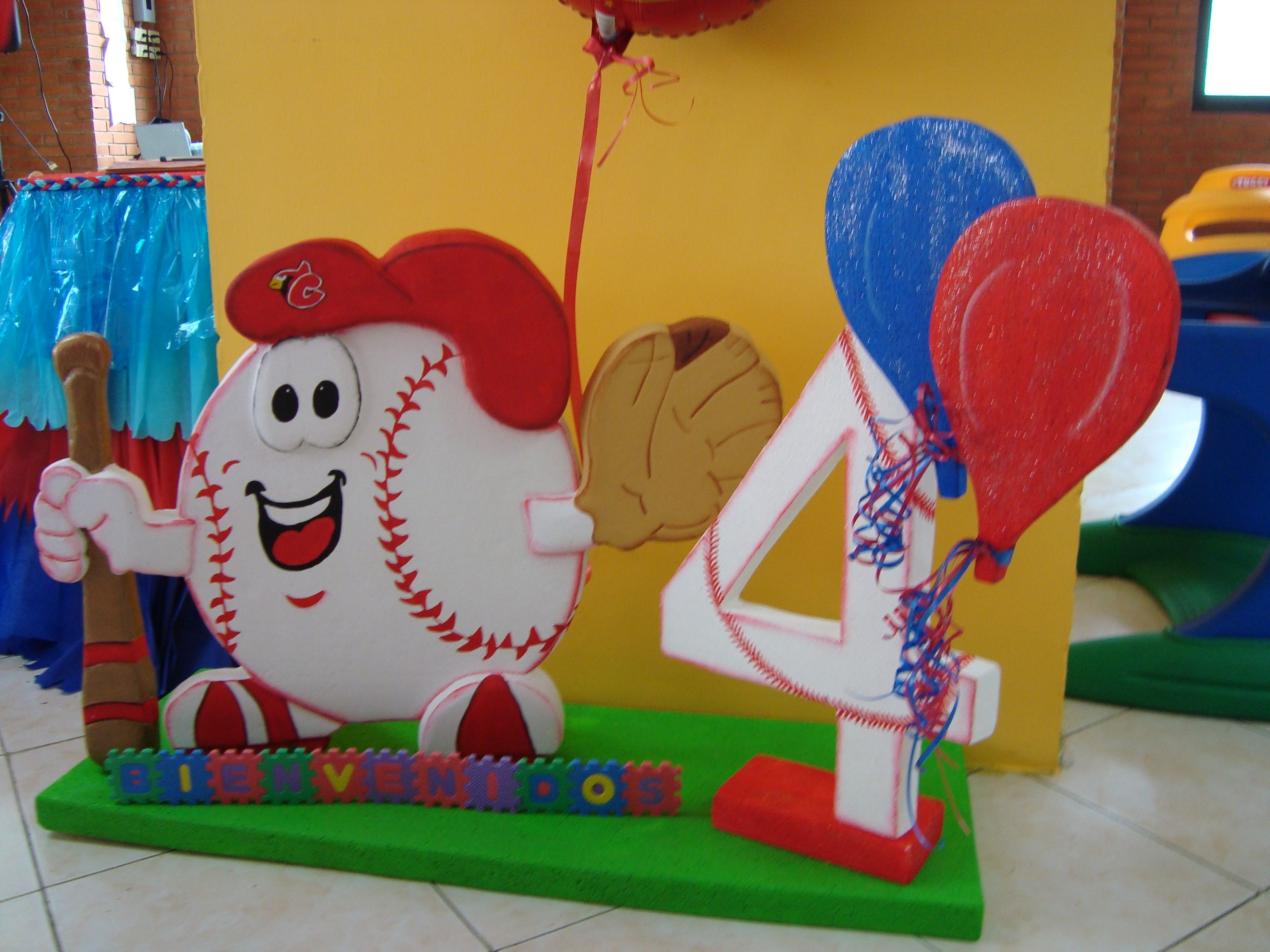 Fiestas de beisbol infantiles imagui b isbol for Decoracion deportiva