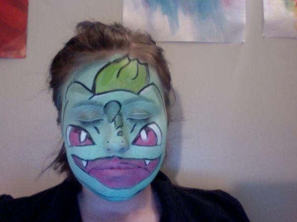 Colorful Anime Face Paint Pokemon Facepaint Face Painting Face Painting Designs