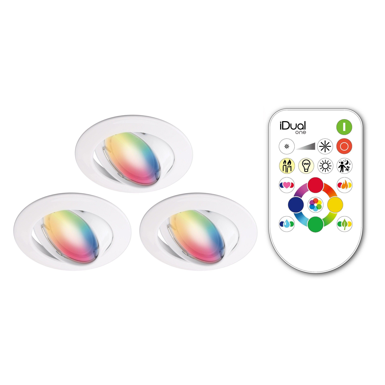 Kit 3 Spots A Encastrer Orientable Clane Idual Gu10 Inspire Rond Spots Kit Intensite Lumineuse