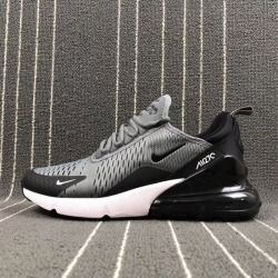 Latest style Nike Air Max 270 Flyknit Grey Black Men's Training Basketball  Shoes