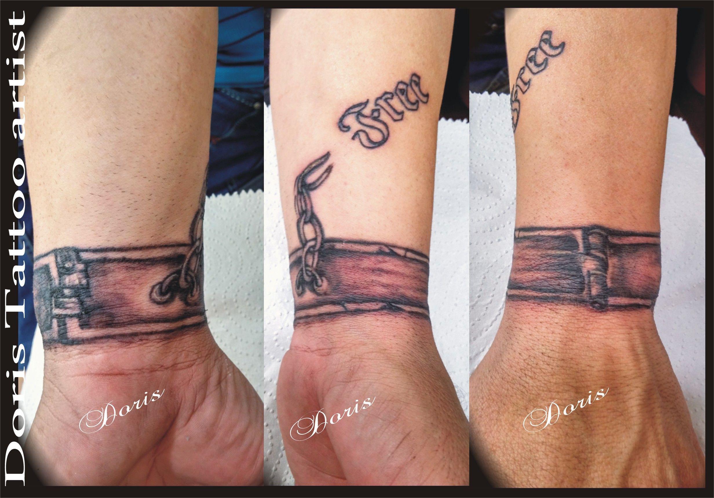 2b9269fa1 Slave shackles bracelet tattoo by Doris tattoo artist Israel ...