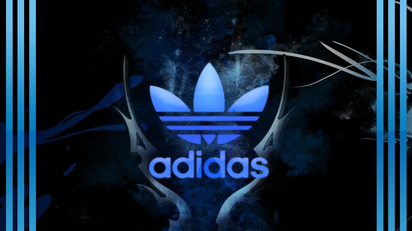 Adidas Logo Ipad Wallpaper Background 1024×1024 (With