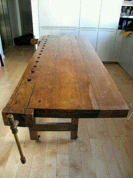 Old School Workbench Up Cycled Into Kitchen Island Projects To