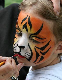 kinderschminken tiger gesicht disfraces kinder schminken gesicht malen und gesicht schminken. Black Bedroom Furniture Sets. Home Design Ideas