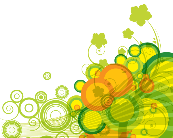 Ipad Wallpaper Little Plant In A Bubble: Abstract Green Bubbles Vector Background