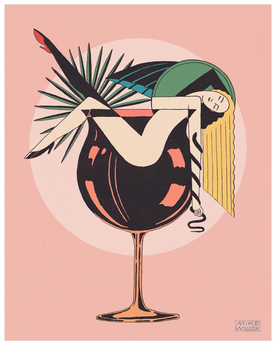 """Cocktails 16""""x20"""" Print"""