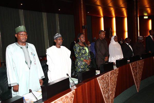PHOTOS: Buhari at FEC meeting today - Politics - Nigeria