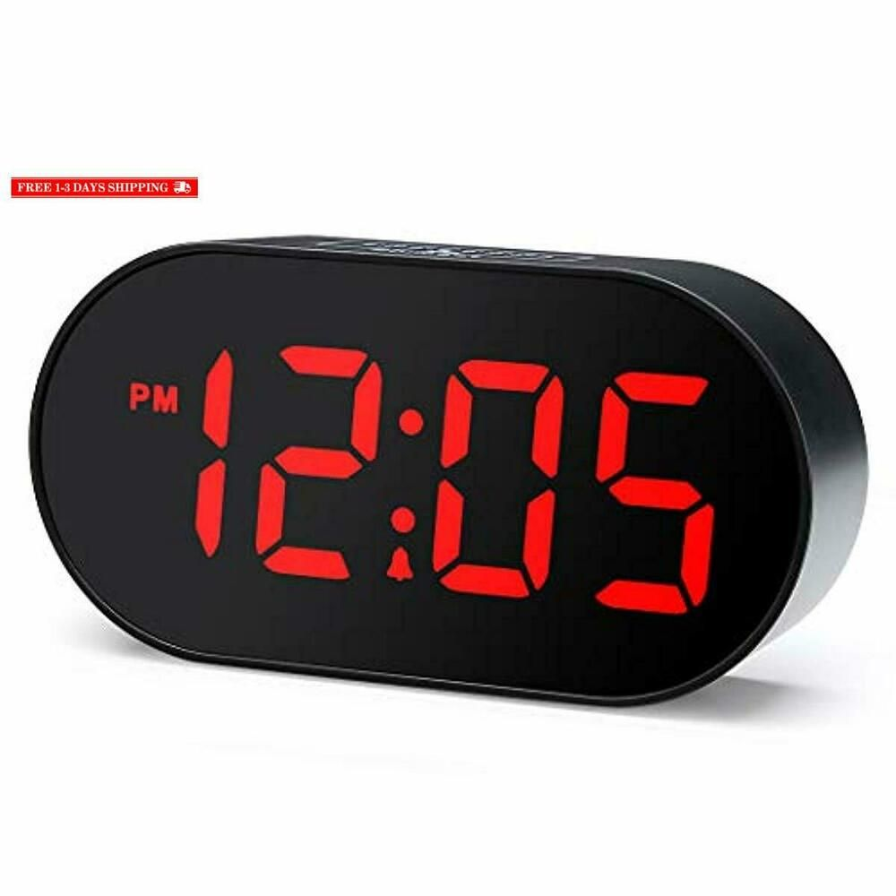 Plumeet Digital Led Alarm Clock With Dimmer And Snooze 2 Level