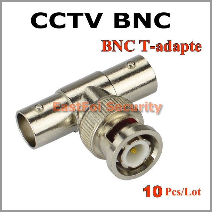 $5.75 (Buy here: http://appdeal.ru/9y8m ) 10pcs/lot BNC Male to 2 BNC Female Socket 3 Way BNC connector for CCTV Camera T adapter Connector CCTV Accessories for just $5.75