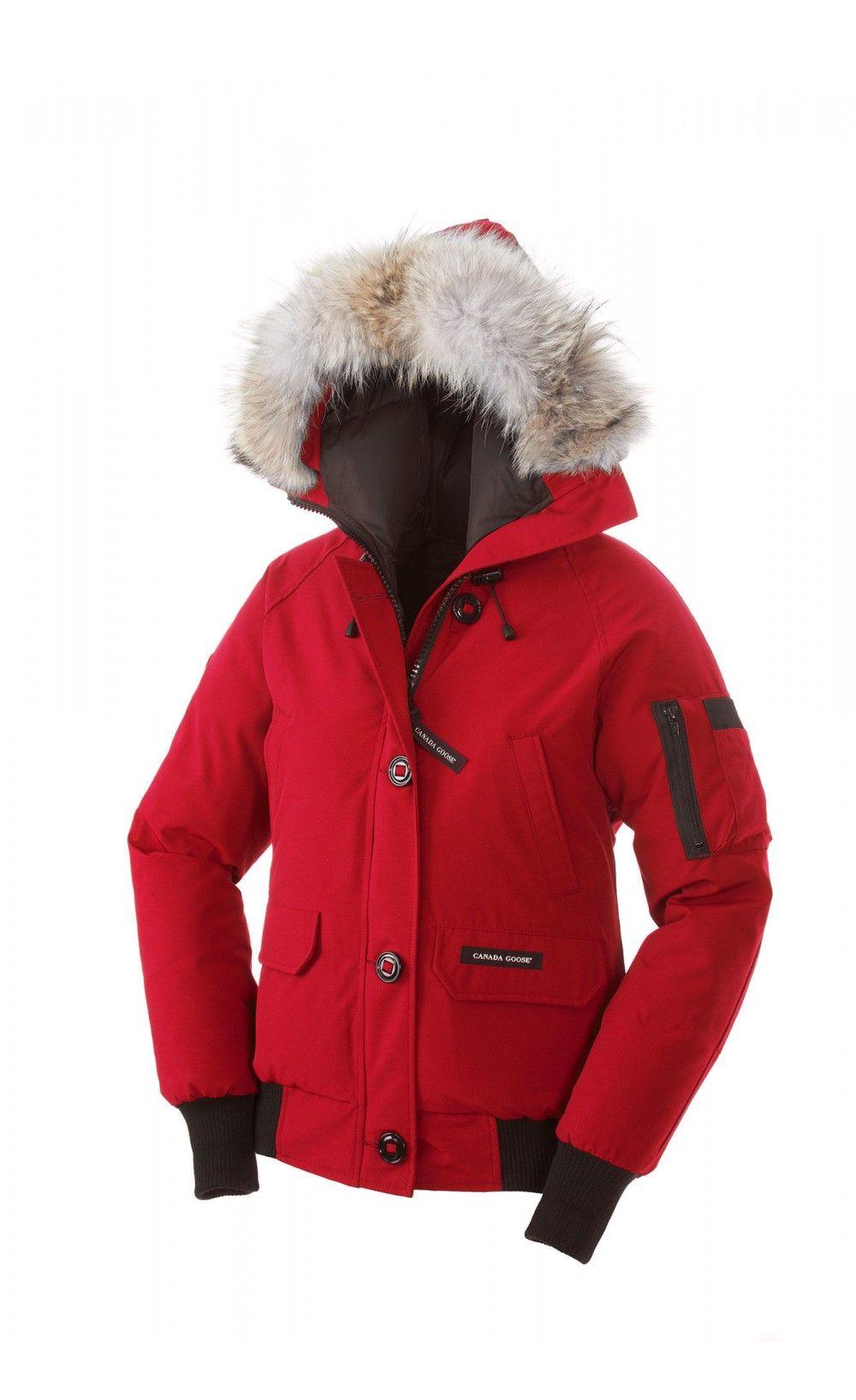 Canada Goose Chilliwack Bomber Jaket Red Women Fashion Style Everyday Fashion