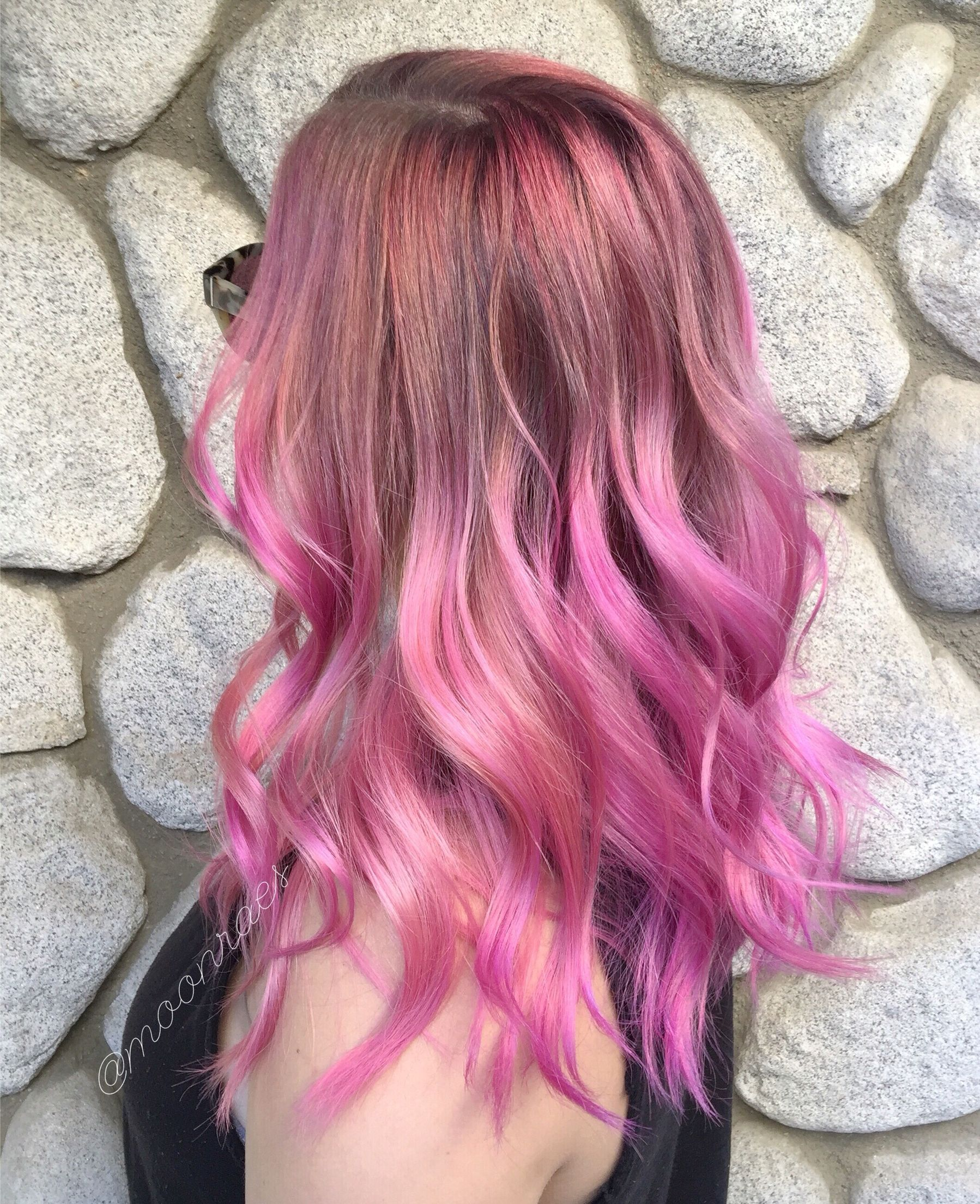 Hair by hayleerae instagram moonraes pinkhair pinkombre