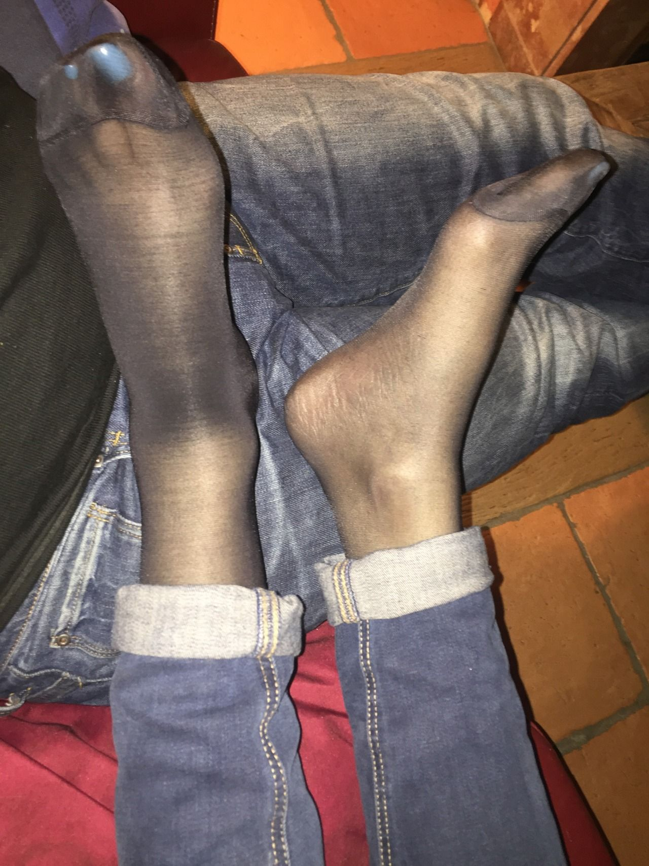 my wife in nylons
