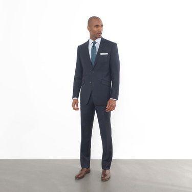 d03c1355c9 Suits by Combatant Gentlemen Blue Slim Fit Suit