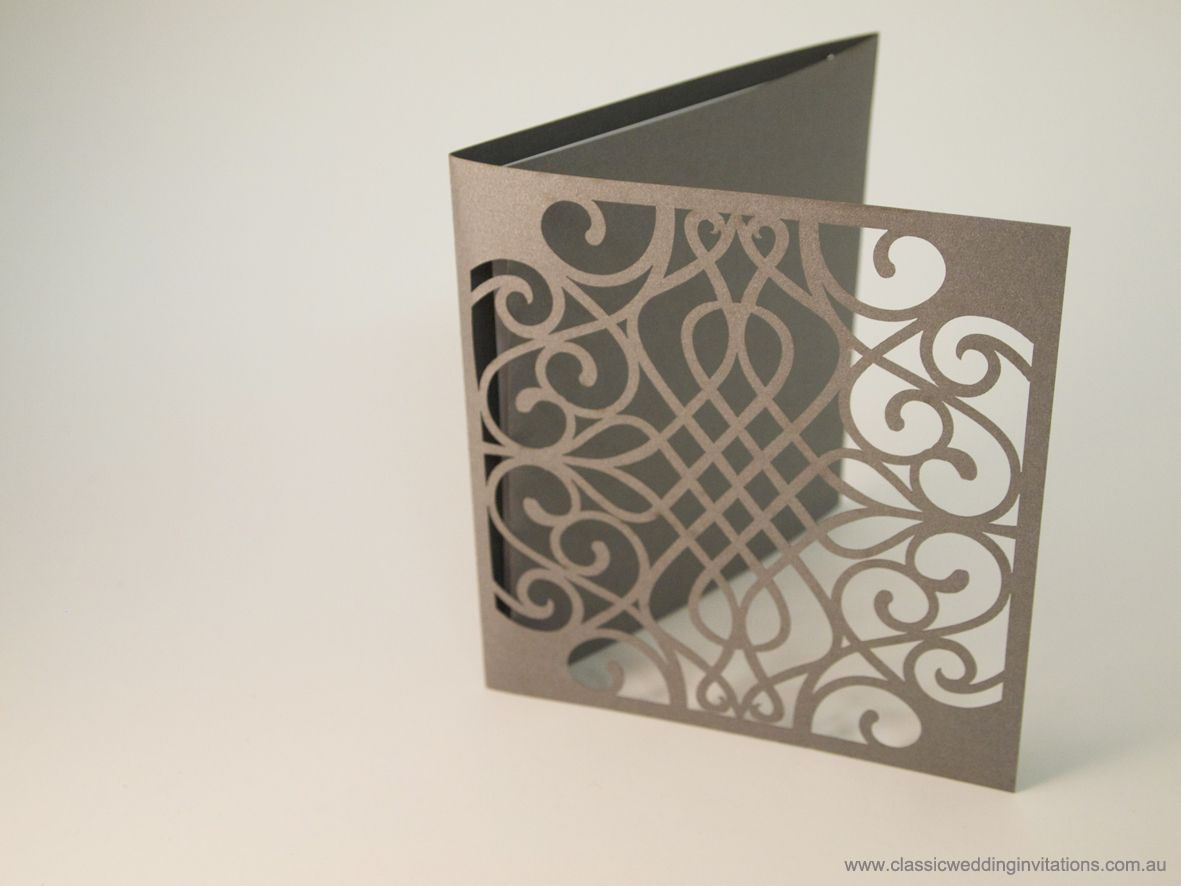 laser cut wedding invitations Harmony Laser Cut Trifold Wedding Invitation http www classicweddinginvitations com