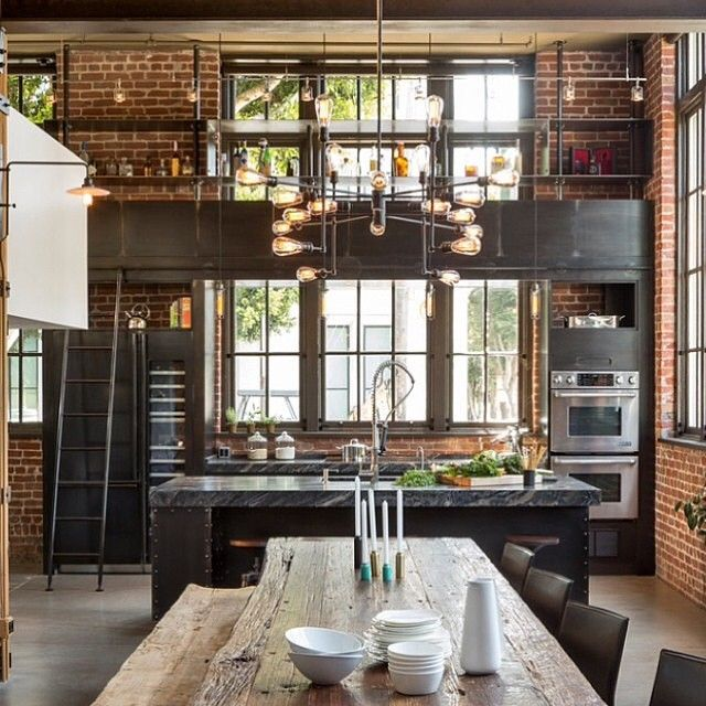 Modern Industrial Kitchen Design: Photo Taken By @myinterior On Instagram, Pinned Via The