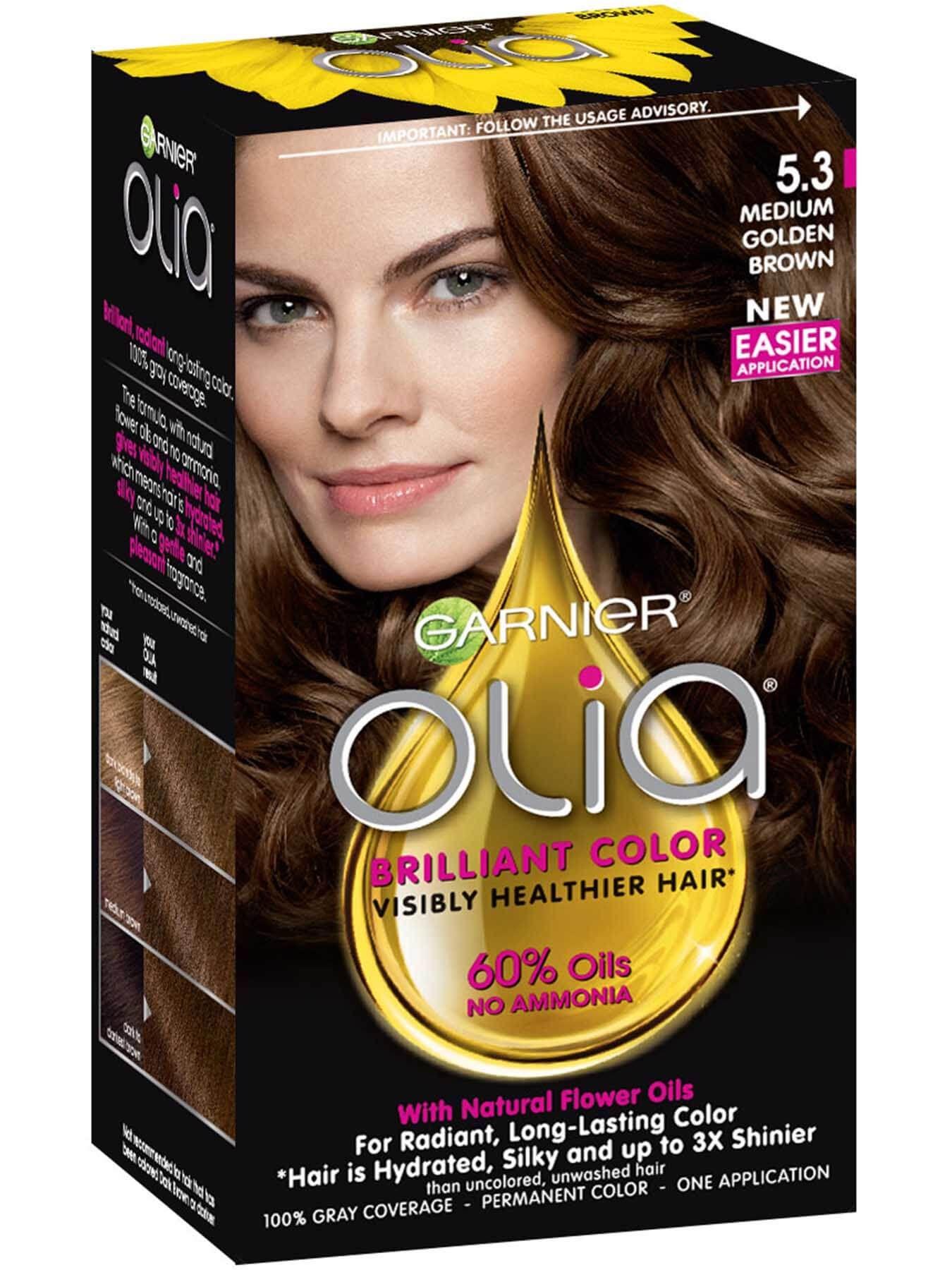 Olia 5 3 Medium Golden Brown Garnier Hair Color Permanent