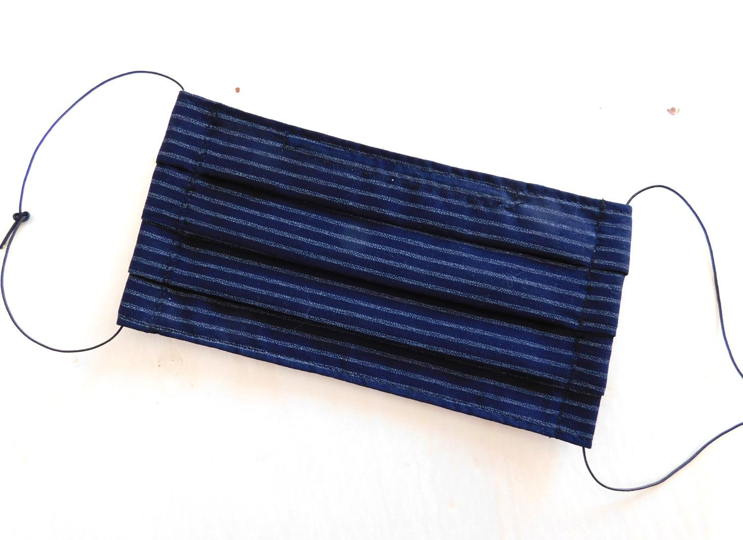 Adult Size Indigo Stripes Pattern Reusable Washable Face