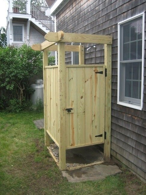 Enclosed Outdoor Shower off the Back of the House ...