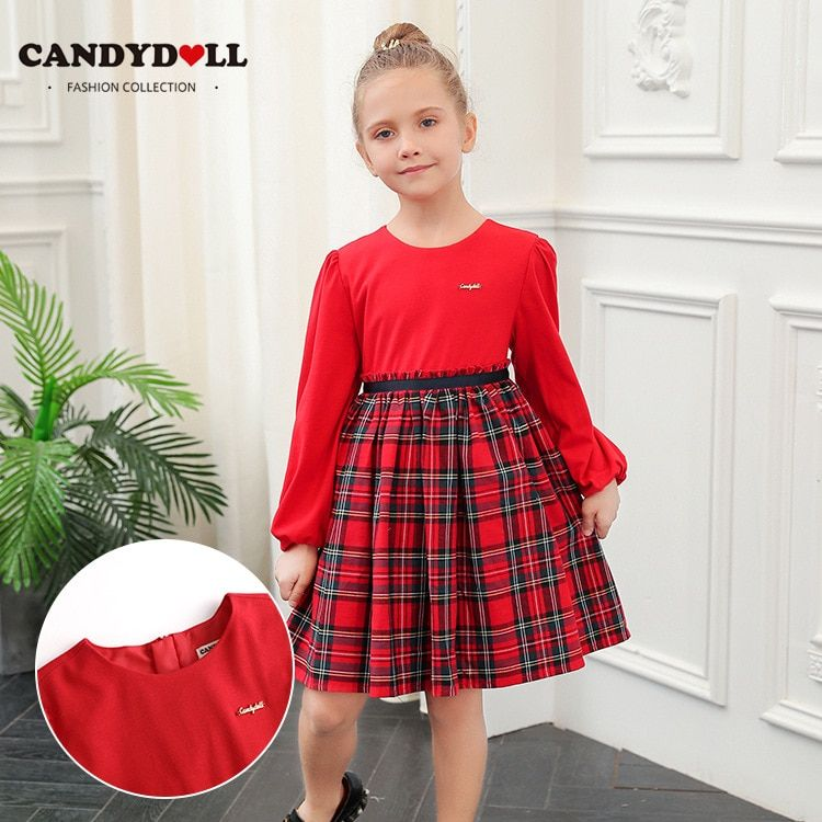 3b80336f7d00a CANDYDOLL New fall girl's long sleeve dress cotton supersoft college ...