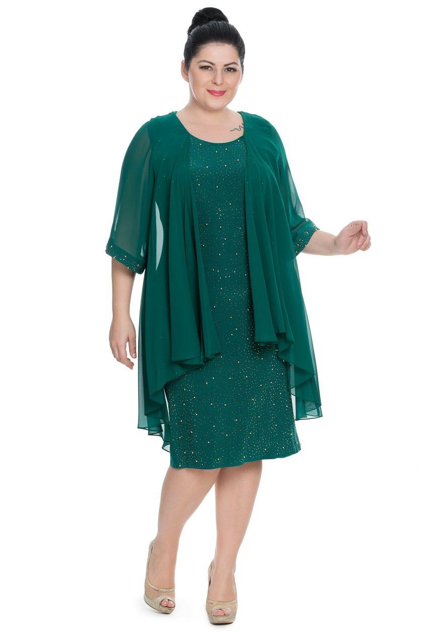 Zümrüt Yeşili Dekoltesiz Büyük Beden Abiye C9000 | Mom dress, Groom ...