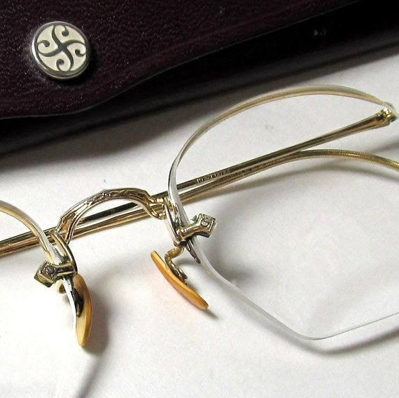 Vintage bifocals wire rim glasses gold filled Mens