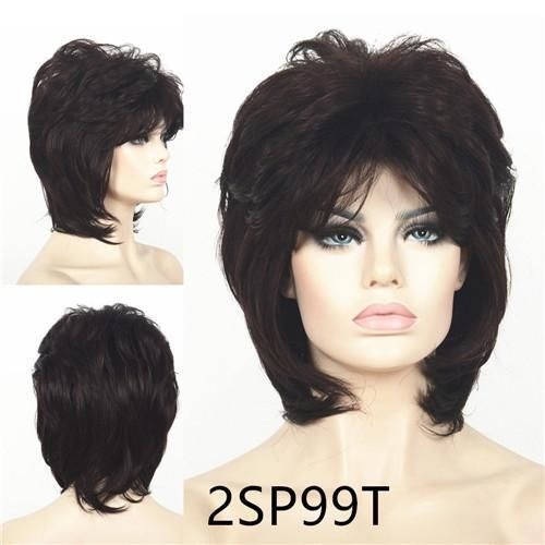 Strongbeauty Short Shag Hairstyles Hair For Women Natural Fluffy Synthetic Full Wigs 21Color