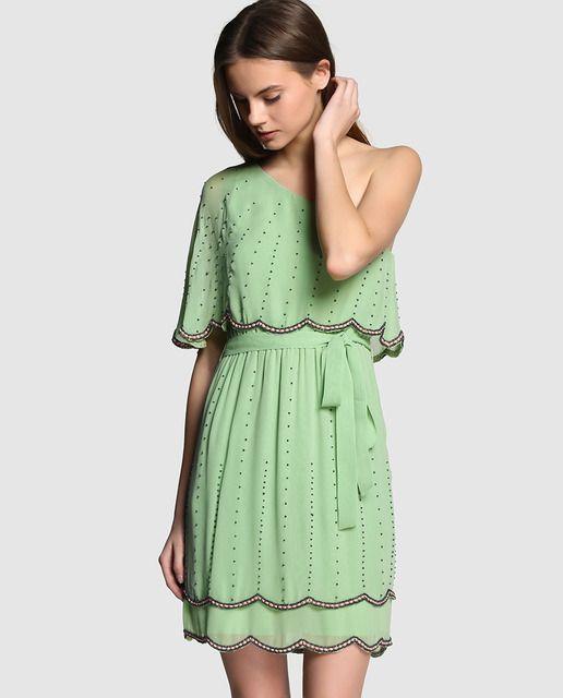 Vestidos verde pastel cortos