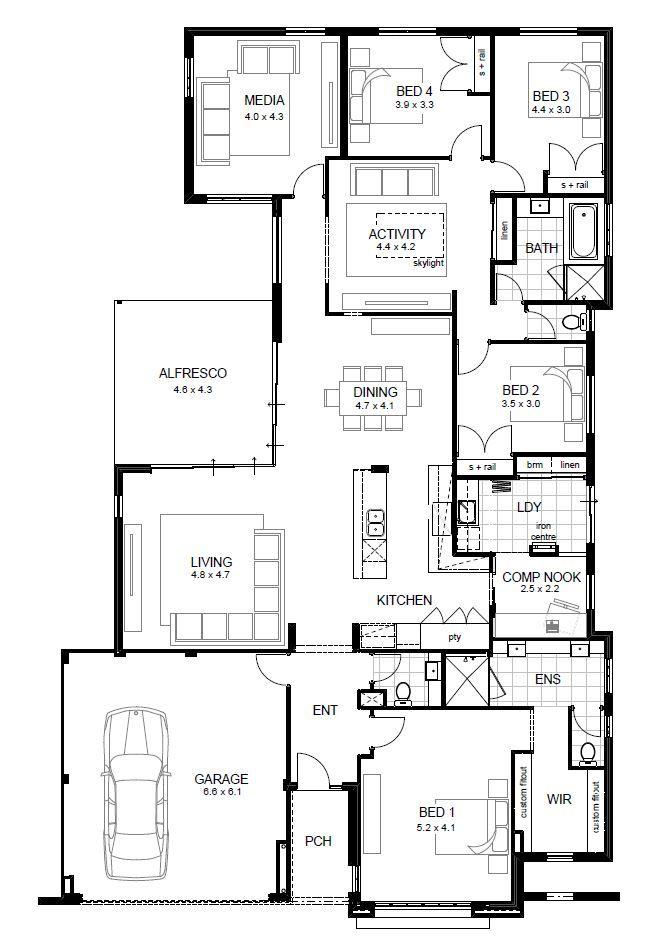 5 Bedroom Home Designs Single Storey Display Homes Perth  Apg Homes  Floor Plans