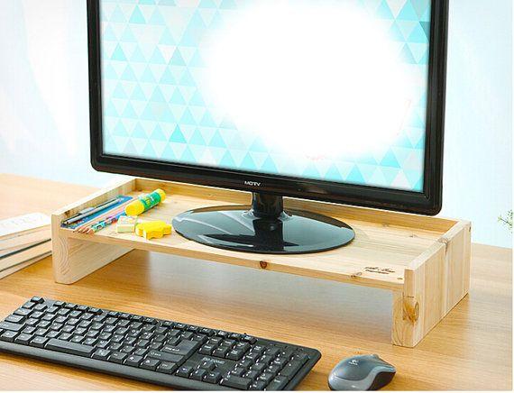 apple monitor stand file cabinet wooded office desk storange