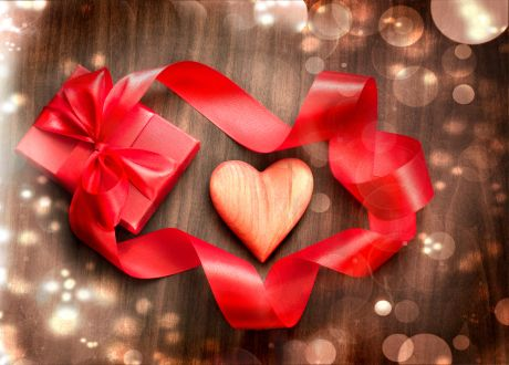 With Love - Gift, Love, Holiday, Box, Valentine s Day, Red, Ribbon, Day of Sacred Valentine, Present, Heart Love