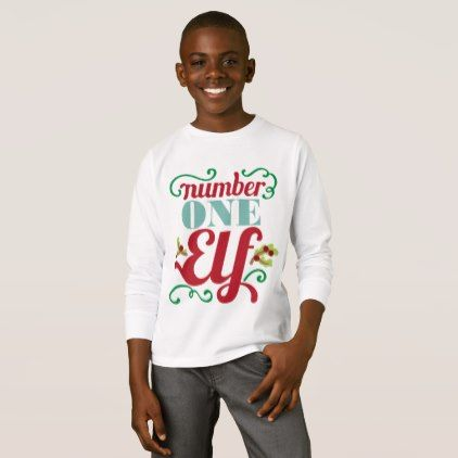 kids unisex number one elf christmas t shirt giftideas for kids babies children gifts giftidea