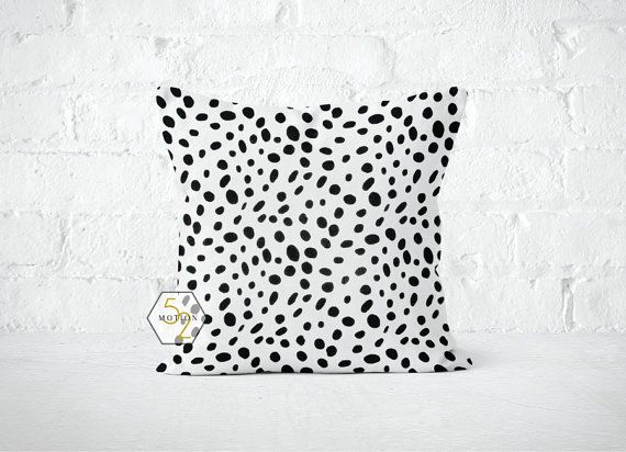 Black Dots Pillow Cover Spots Togo Black Lumbar 12 14 16 Etsy Pillows Pillow Covers Dot Pillow
